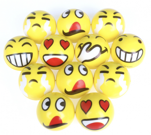 balle anti-stress smileys